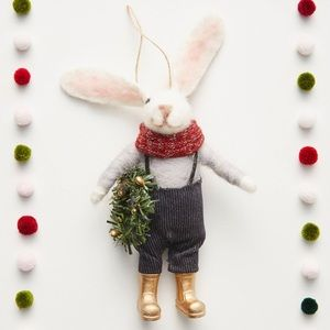 NWOT Rabbit Farmer Anthropologie Ornament